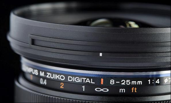 全新 M.Zuiko Digital ED 8-25mm F4.0 PRO高倍率變焦鏡頭
