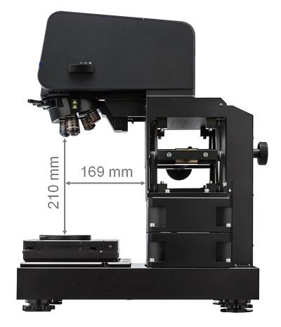 可測量最高210毫米的樣品